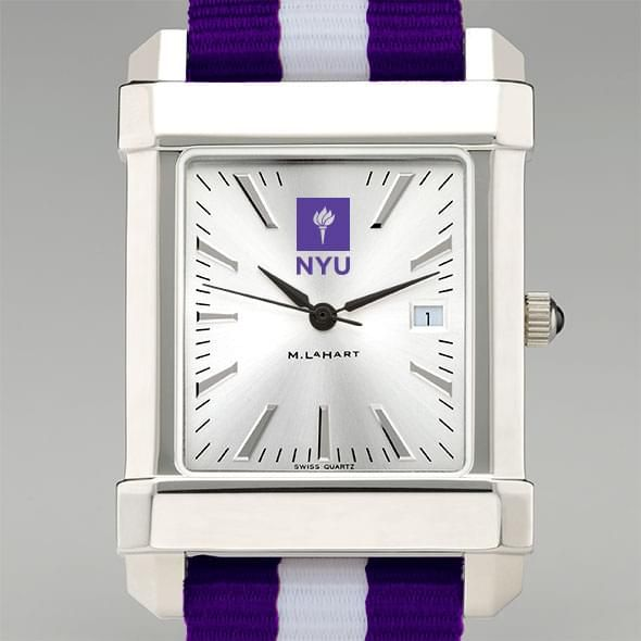New York University Collegiate Watch with NATO Strap for Men