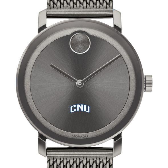 Christopher Newport University Men's Movado BOLD Gunmetal Grey with Mesh Bracelet