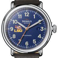 LSU Shinola Watch, The Runwell Automatic 45mm Royal Blue Dial
