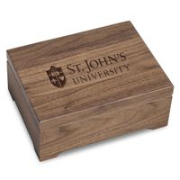 St. John's University Solid Walnut Desk Box