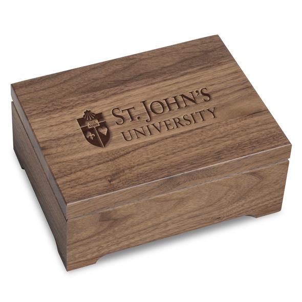 St. John's University Solid Walnut Desk Box