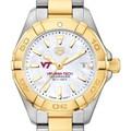 Virginia Tech TAG Heuer Two-Tone Aquaracer for Women - Image 1