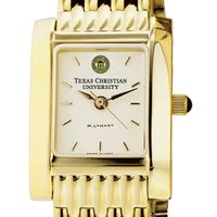 TCU Women's Gold Quad Watch with Bracelet