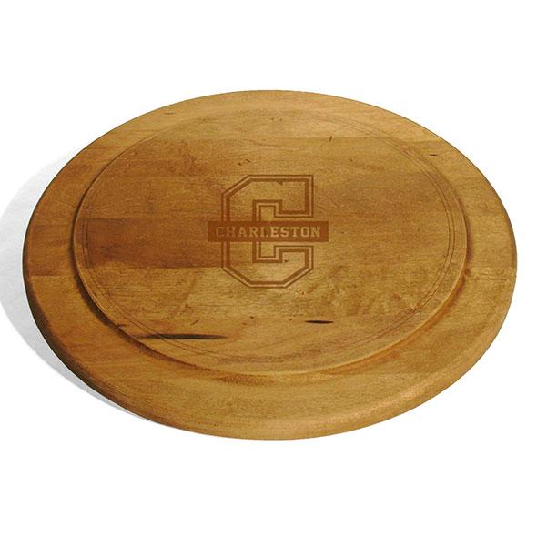 College of Charleston Round Bread Server