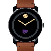 Kansas State University Men's Movado BOLD with Brown Leather Strap
