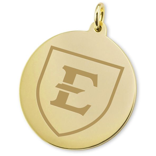 East Tennessee State University 18K Gold Charm - Image 2