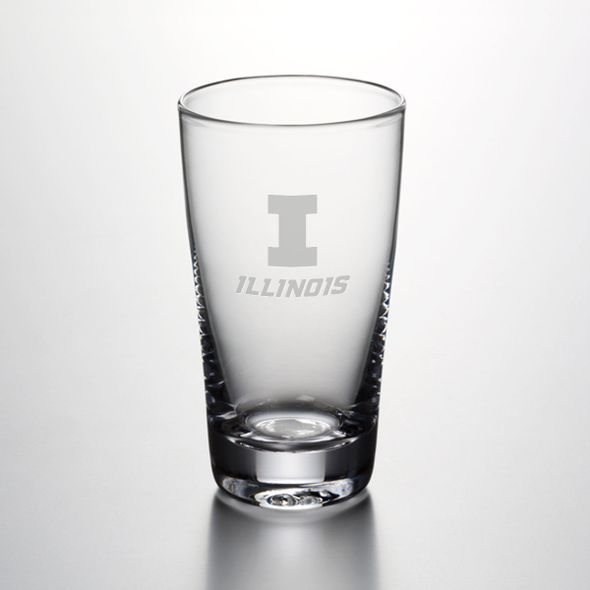 University of Illinois Ascutney Pint Glass by Simon Pearce