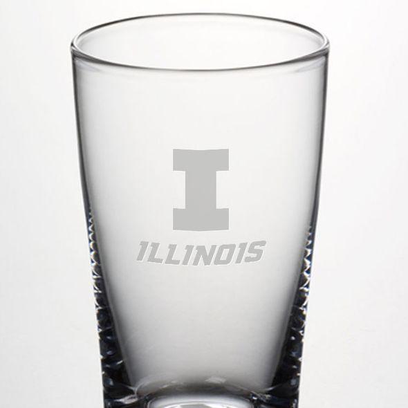 University of Illinois Ascutney Pint Glass by Simon Pearce - Image 2