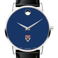 Harvard Business School Men's Movado Museum with Blue Dial & Leather Strap