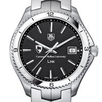 Carnegie Mellon University Men's Link Watch with Black Dial