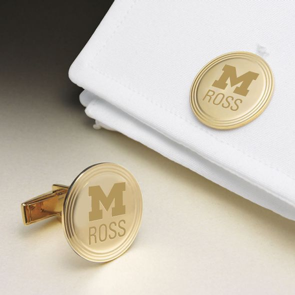 Michigan Ross 14K Gold Cufflinks - Image 1