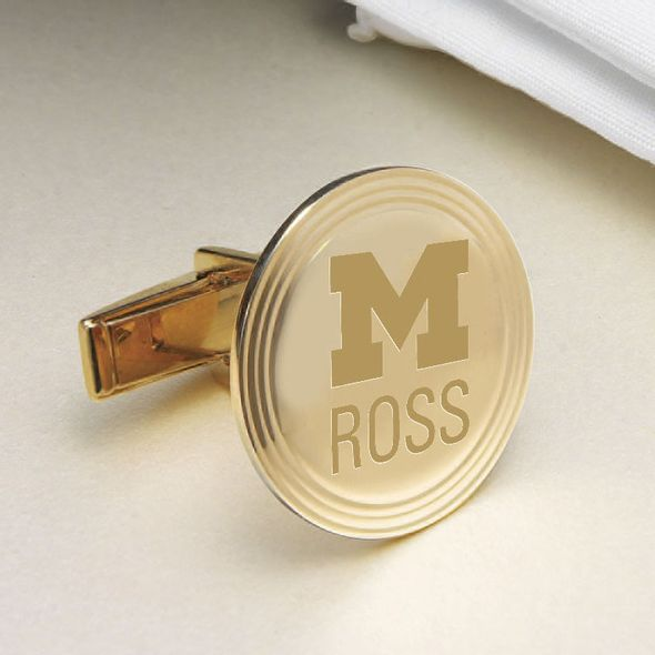 Michigan Ross 14K Gold Cufflinks - Image 2