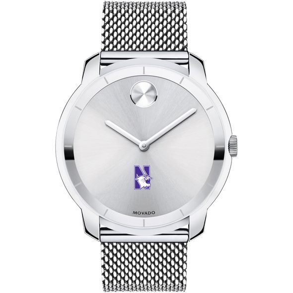 Northwestern Men's Movado Stainless Bold 44 - Image 2