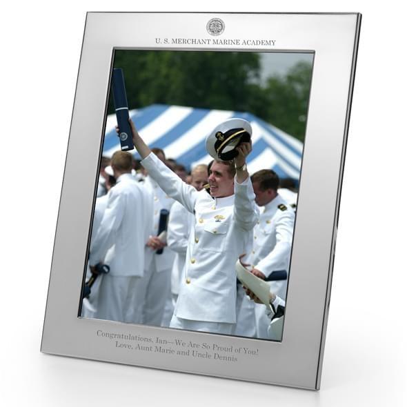Merchant Marine Academy Polished Pewter 8x10 Picture Frame - Image 2
