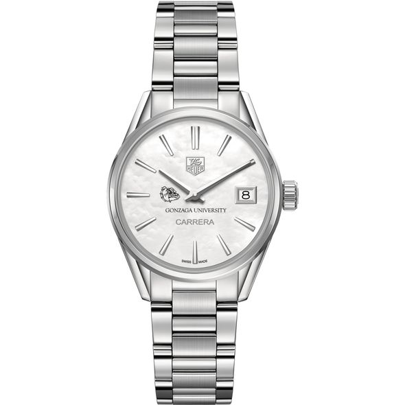 Gonzaga Women's TAG Heuer Steel Carrera with MOP Dial - Image 2