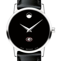 University of Georgia Women's Movado Museum with Leather Strap