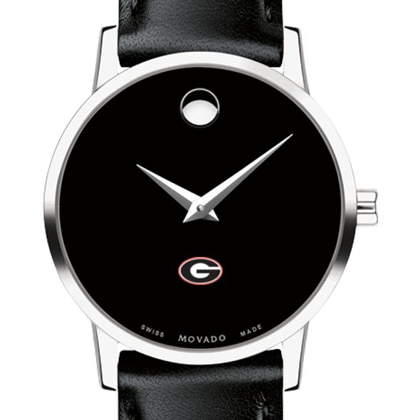 University of Georgia Women's Movado Museum with Leather Strap - Image 1