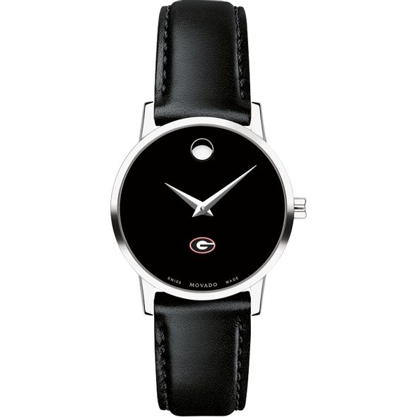 University of Georgia Women's Movado Museum with Leather Strap - Image 2