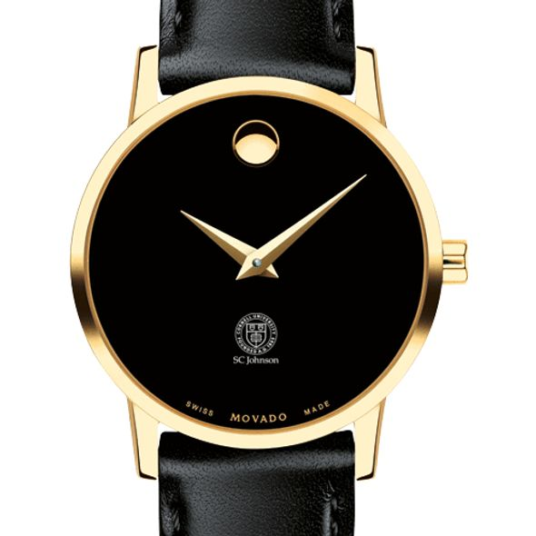 SC Johnson College Women's Movado Gold Museum Classic Leather