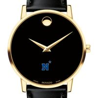 Naval Academy Men's Movado Gold Museum Classic Leather