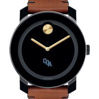 US Coast Guard Academy Men's Movado BOLD with Brown Leather Strap