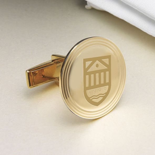 Tuck 14K Gold Cufflinks - Image 2