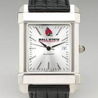Ball State Men's Collegiate Watch with Leather Strap