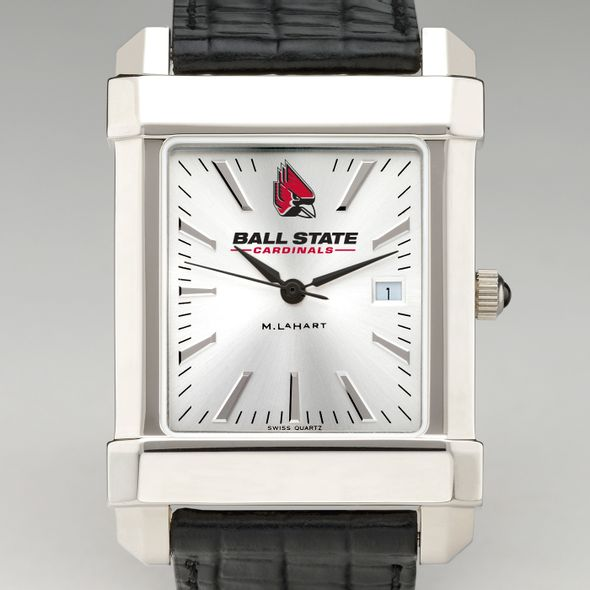 Ball State Men's Collegiate Watch with Leather Strap - Image 1