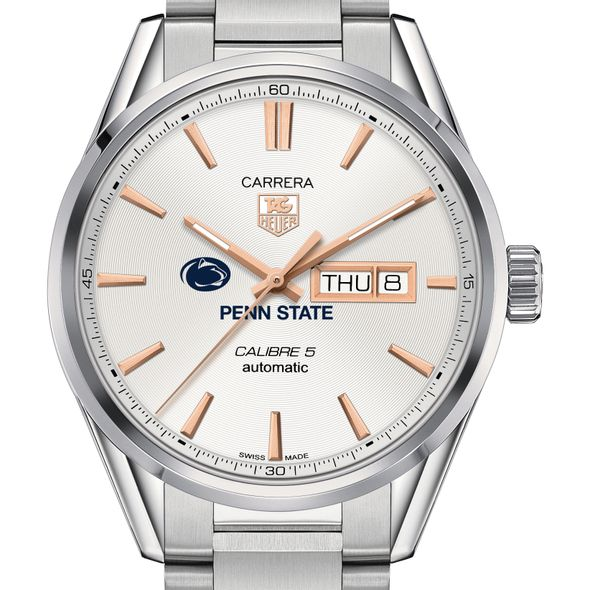 Penn State University Men's TAG Heuer Day/Date Carrera with Silver Dial & Bracelet