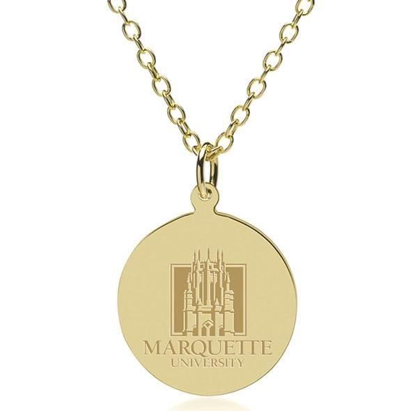 Marquette 14K Gold Pendant & Chain - Image 1