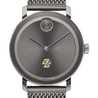 Boston College Men's Movado BOLD Gunmetal Grey with Mesh Bracelet