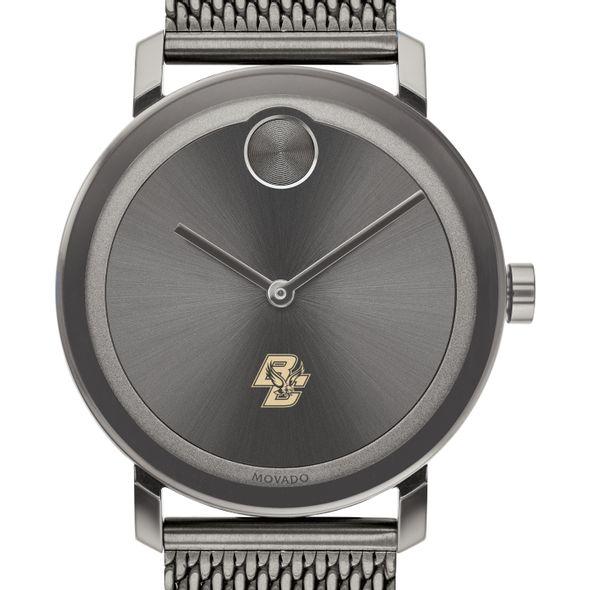 Boston College Men's Movado BOLD Gunmetal Grey with Mesh Bracelet