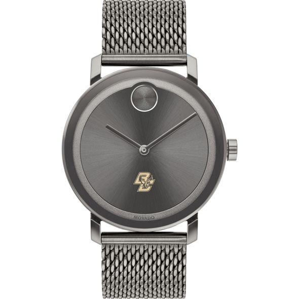 Boston College Men's Movado BOLD Gunmetal Grey with Mesh Bracelet - Image 2