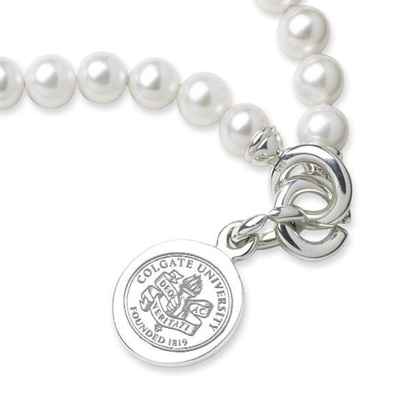 Colgate Pearl Bracelet with Sterling Silver Charm - Image 2
