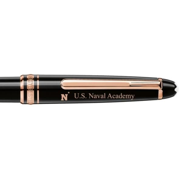 US Naval Academy Montblanc Meisterstück Classique Ballpoint Pen in Red Gold - Image 2