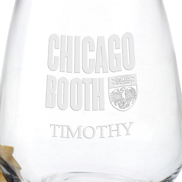 Chicago Booth Stemless Wine Glasses - Set of 4 - Image 3