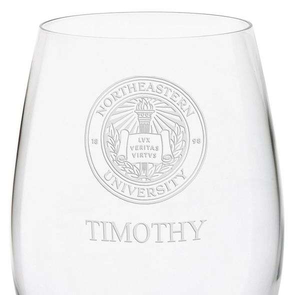Northeastern Red Wine Glasses - Set of 2 - Image 3