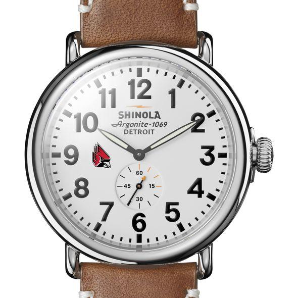 Ball State Shinola Watch, The Runwell 47mm White Dial