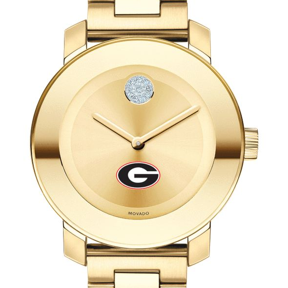 University of Georgia Women's Movado Gold Bold