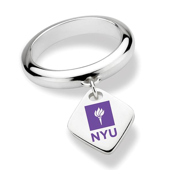New York University Sterling Silver Ring with Sterling Tag