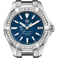 Rice Women's TAG Heuer 35mm Steel Aquaracer with Blue Dial