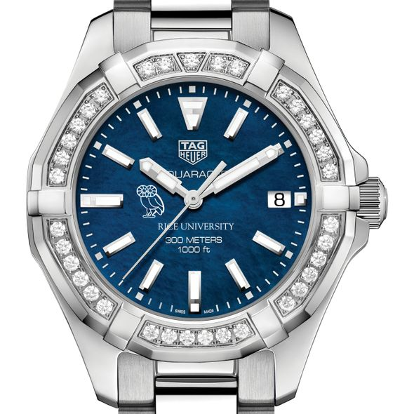 Rice Women's TAG Heuer 35mm Steel Aquaracer with Blue Dial - Image 1