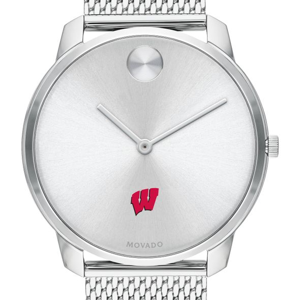 University of Wisconsin Men's Movado Stainless Bold 42 - Image 1