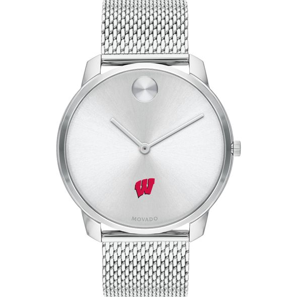 University of Wisconsin Men's Movado Stainless Bold 42 - Image 2