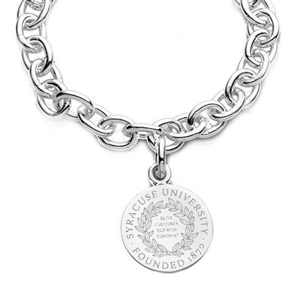 Syracuse University Sterling Silver Charm Bracelet - Image 2