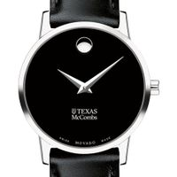 Texas McCombs Women's Movado Museum with Leather Strap
