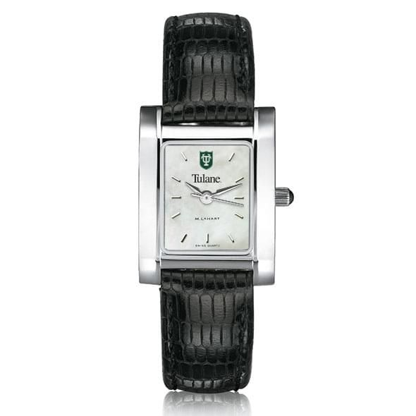 Tulane Women's MOP Quad with Leather Strap - Image 2