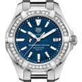 Northeastern Women's TAG Heuer 35mm Steel Aquaracer with Blue Dial - Image 1
