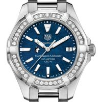 Northeastern Women's TAG Heuer 35mm Steel Aquaracer with Blue Dial