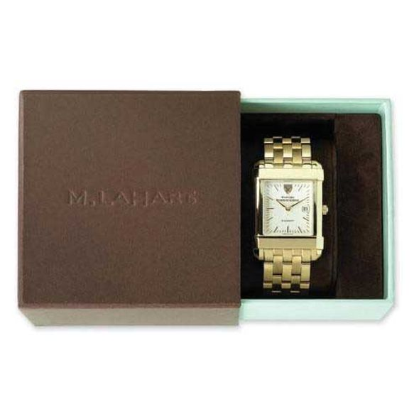 Brigham Young University Men's Gold Quad with Leather Strap - Image 4